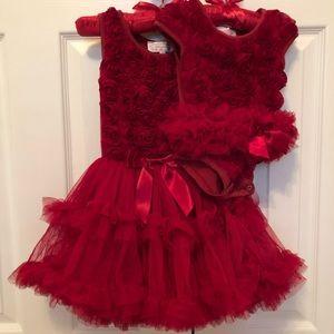 Adorable Popatu Dress Sister Set
